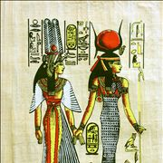 Egypt Hieroglyphics on Papyrus