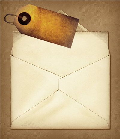Vintage Envelope and Paper