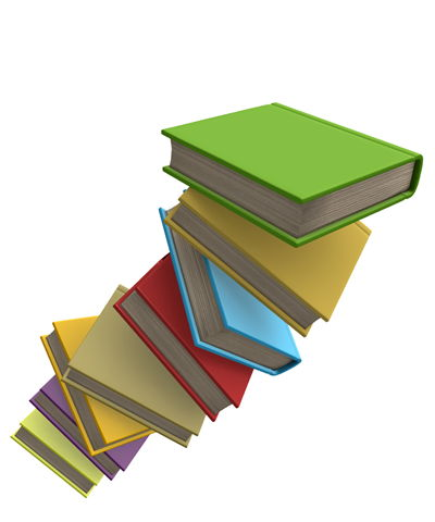 Flying Colored Books