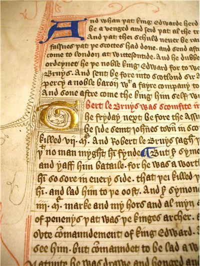 Illuminated Manuscrit from Sixteenth Century