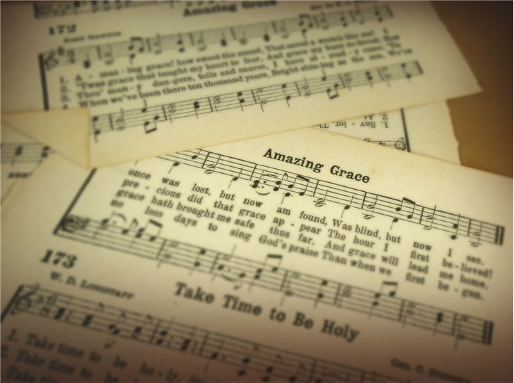 Paper Pages from a Vintage Hymnal