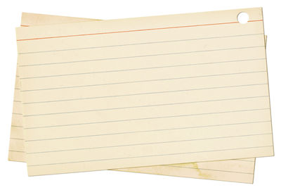 Vintage Index Cards